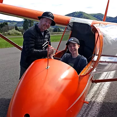 Youth Glider Pilot Hood River Soaring